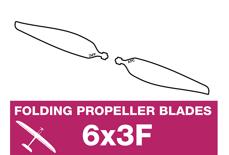 APC - Folding Electric Propeller Blades - 6X3F