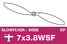 APC - SLOWFLYER Propeller - 7X3.8WSF