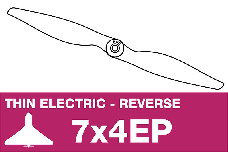 APC - Electro Propeller - Thin - Pusher / CCW - 7X4EP