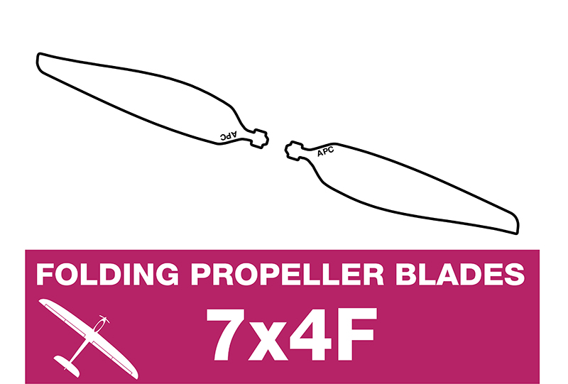 APC - Folding Electric Propeller Blades - 7X4F