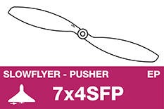 APC - SLOWFLYER Propeller - Pusher / CCW - 7X4SFP