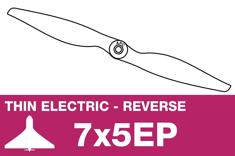 APC - Electro Propeller - Thin - Pusher / CCW - 7X5EP