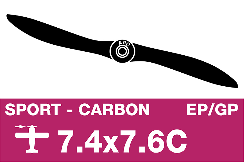 APC - Sport Propeller - Carbon - EP/GP - 7.4X7.6C