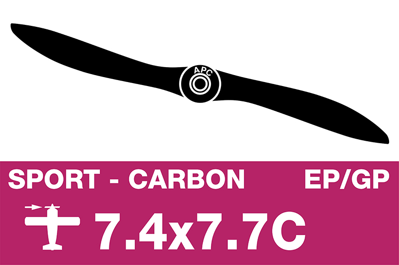 APC - Sport Propeller - Carbon - EP/GP - 7.4X7.7C