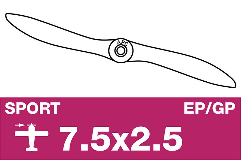 APC - Sport Propeller - EP/GP - 7.5X2.5