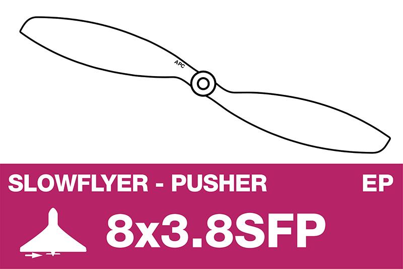 APC - SLOWFLYER Propeller - Pusher / CCW - 8X3.8SFP
