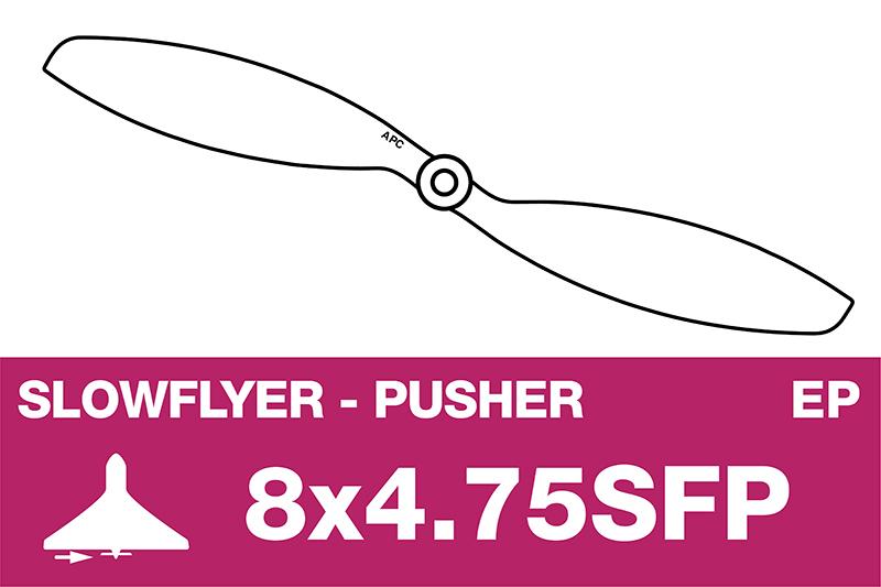 APC - SLOWFLYER Propeller - Pusher / CCW - 8X4.7SFP