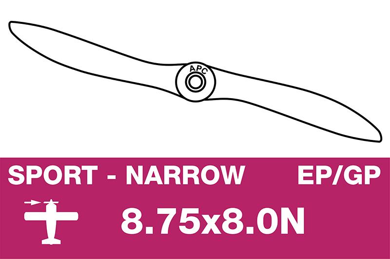 APC - Sport Propeller - Thin - EP/GP - 8.75X8.0N
