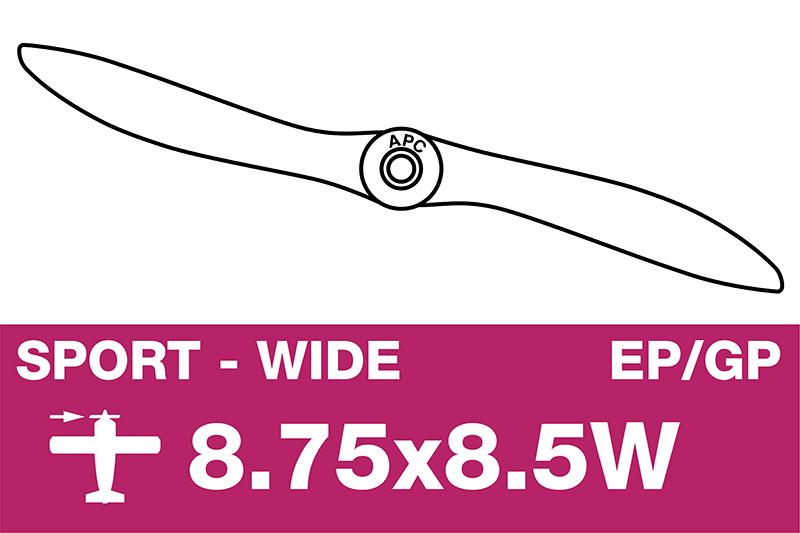 APC - Sport Propeller - EP/GP - 8.75X8.5W