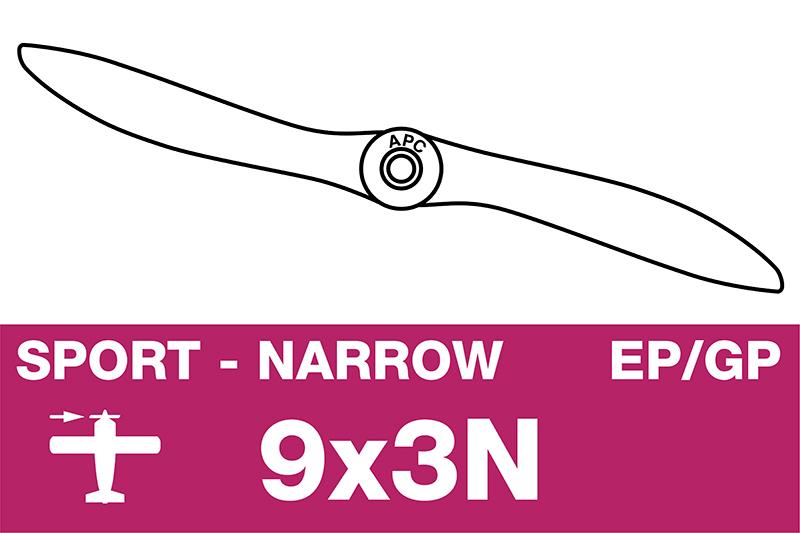 APC - Sport Propeller - Thin - EP/GP - 9X3N