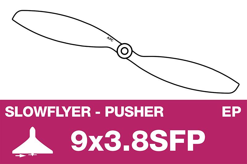 APC - SLOWFLYER Propeller - Pusher / CCW - 9X3.8SFP