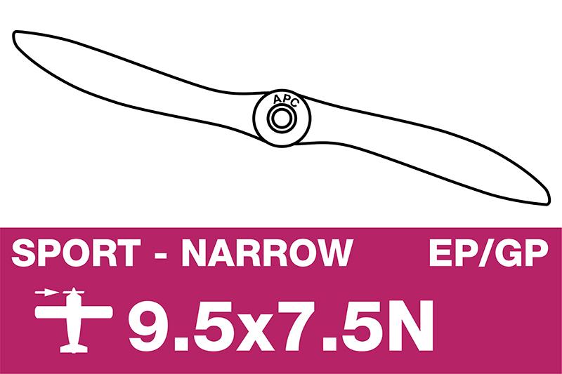 APC - Sport Propeller - Thin - EP/GP - 9.5X7.5N
