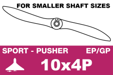 APC - Sport Propeller - Pusher / CCW - EP/GP - 10X4P (for smaller shaft sizes)
