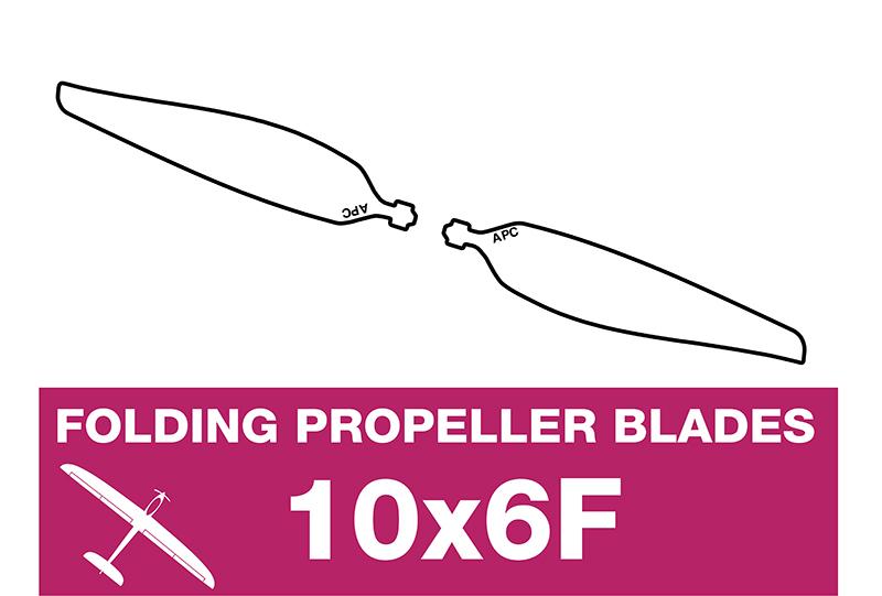 APC - Folding Electric Propeller Blades - 10X6F