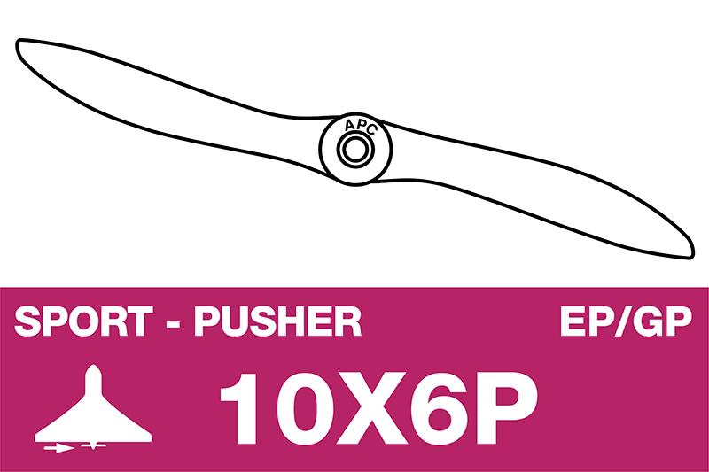 APC - Sport Propeller - Pusher / CCW - EP/GP - 10X6P