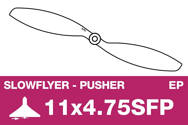 APC - SLOWFLYER Propeller - Pusher / CCW - 11X4.7SFP