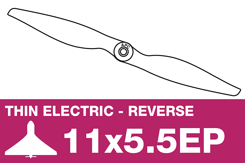 APC - Electro Propeller - Thin - Pusher / CCW - 11X5.5EP