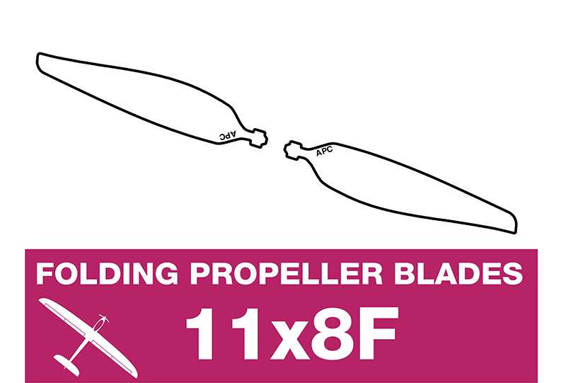 APC - Folding Electric Propeller Blades - 11X8F