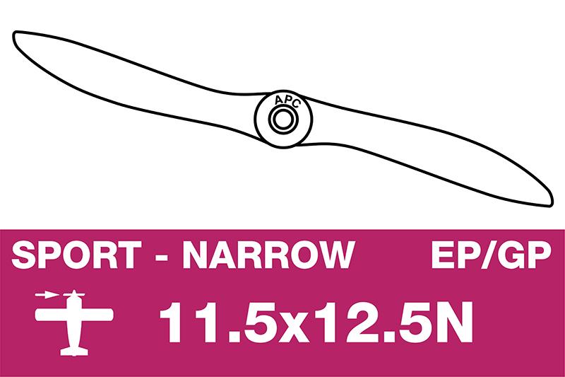 APC - Sport Propeller - Thin - EP/GP - 11.5X12.5N