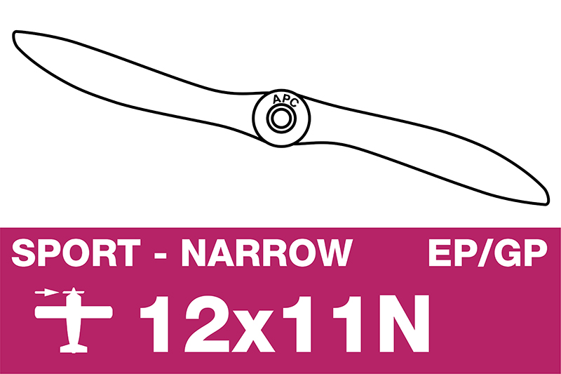 APC - Sport Propeller - Thin - EP/GP - 12X11N