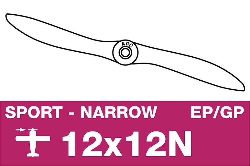 APC - Sport Propeller - Thin - EP/GP - 12X12N