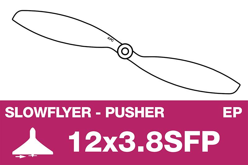 APC - SLOWFLYER Propeller - Pusher / CCW - 12X3.8SFP