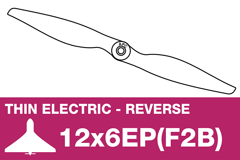 APC - Electro Propeller - Thin - Pusher / CCW - 12X6EP(F2B)