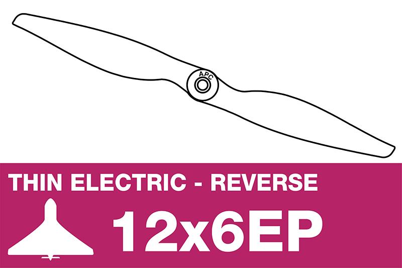 APC - Electro Propeller - Thin - Pusher / CCW - 12X6EP