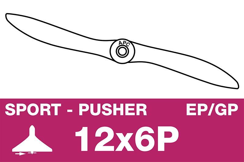 APC - Sport Propeller - Pusher / CCW - EP/GP - 12X6P