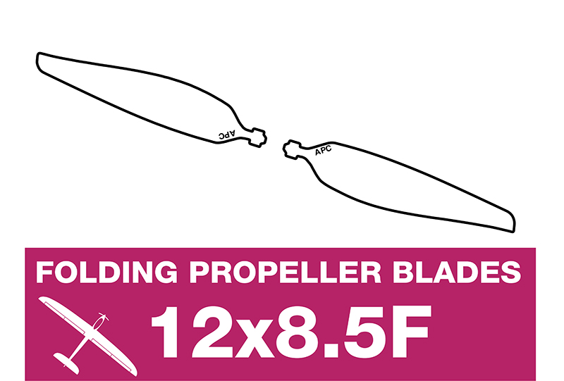 APC - Folding Electric Propeller Blades - 12X8.5F