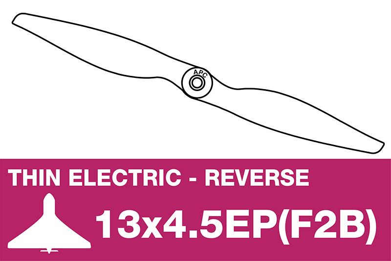 APC - Electro Propeller - Thin - Pusher / CCW - 13X4.5EP(F2B)