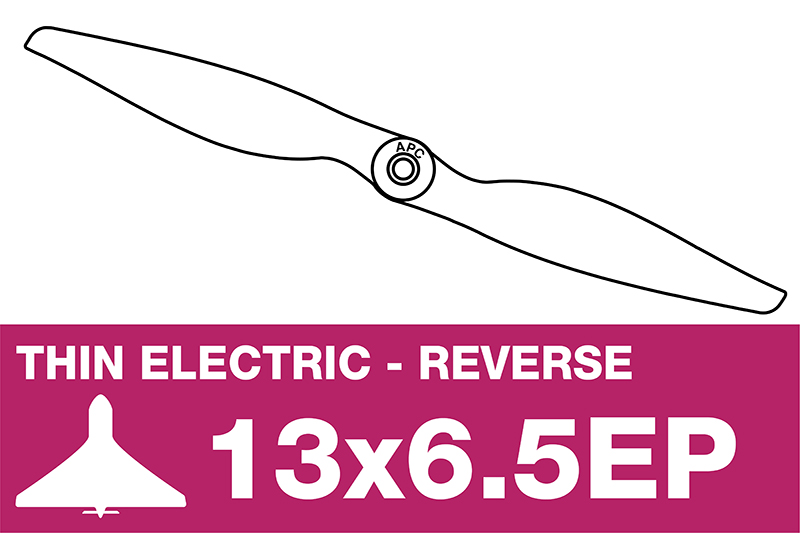 APC - Electro Propeller - Thin - Pusher / CCW - 13X6.5EP