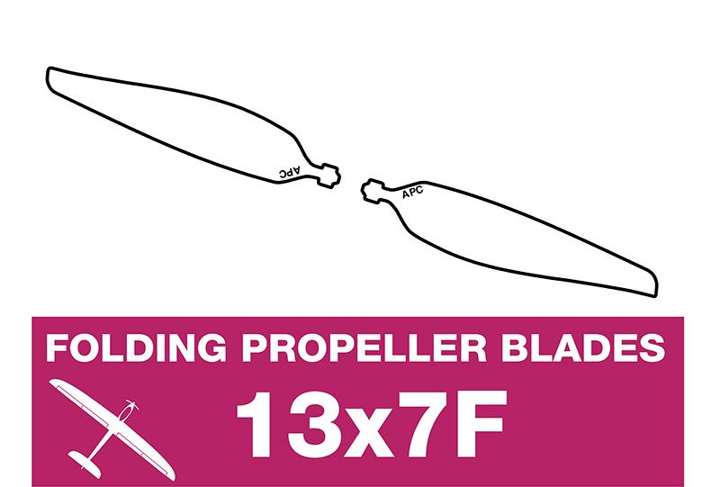 APC - Folding Electric Propeller Blades - 13X7F