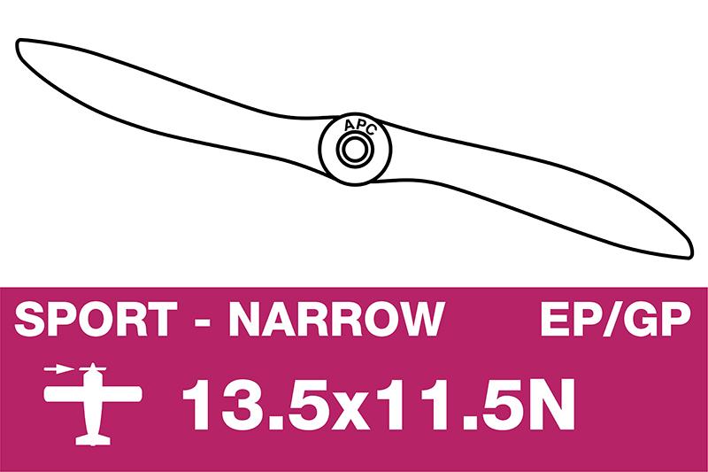 APC - Sport Propeller - Thin - EP/GP - 13.5X11.5N
