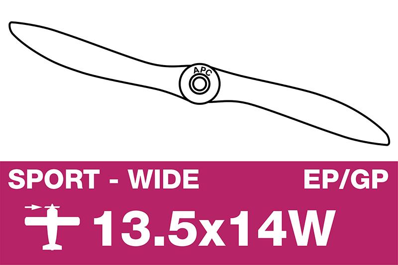 APC - Sport Propeller - EP/GP - 13.5X14W
