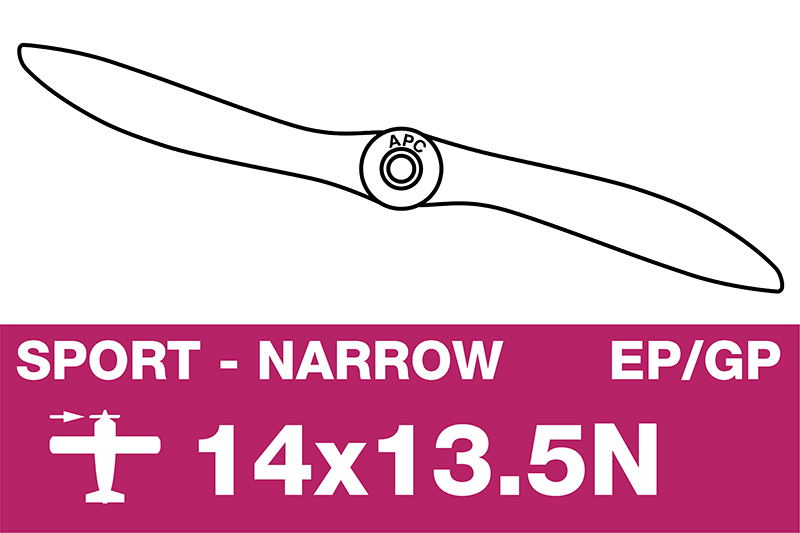 APC - Sport Propeller - Thin - EP/GP - 14X13.5N