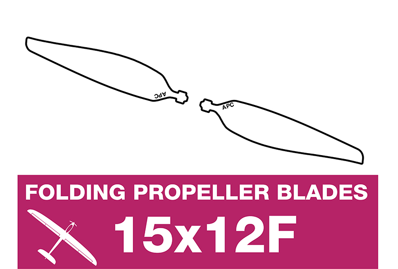 APC - Folding Electric Propeller Blades - 15X12F