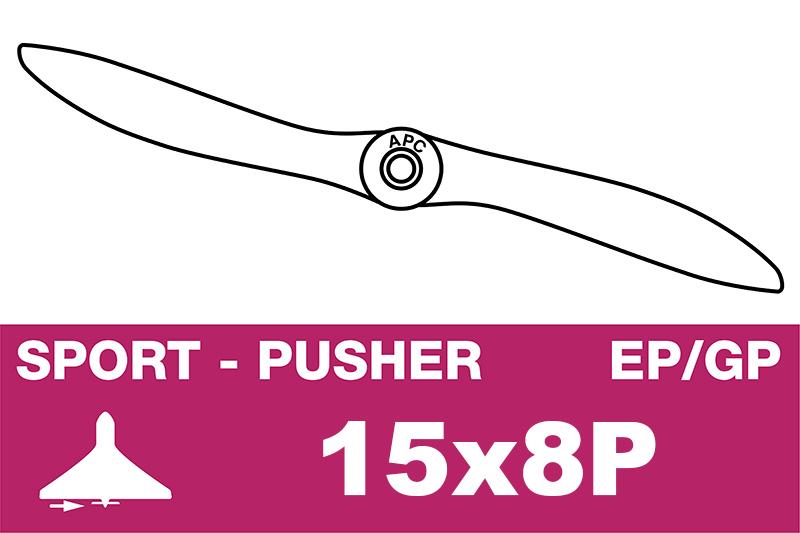 APC - Sport Propeller - Pusher / CCW - EP/GP - 15X8P