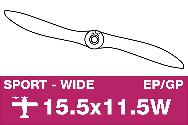 APC - Sport Propeller - EP/GP - 15.5X11.5W