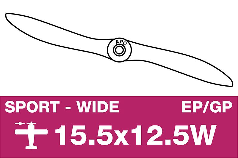 APC - Sport Propeller - EP/GP - 15.5X12.5W