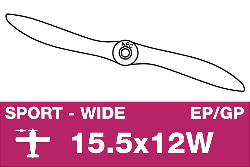 APC - Sport Propeller - EP/GP - 15.5X12W