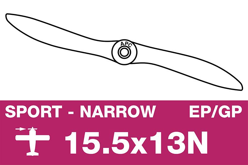 APC - Sport Propeller - Thin - EP/GP - 15.5X13N