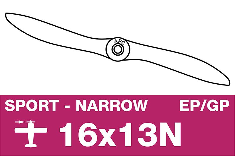 APC - Sport Propeller - Thin - EP/GP - 16X13N