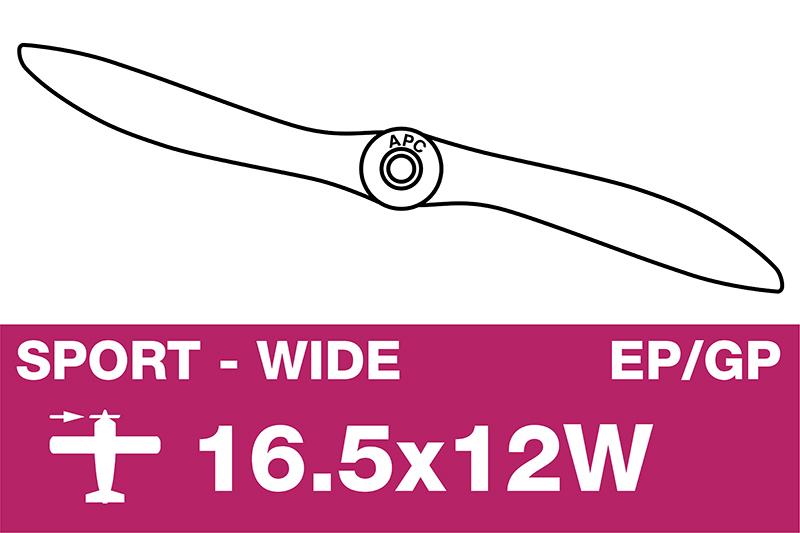 APC - Sport Propeller - EP/GP - 16.5X12W