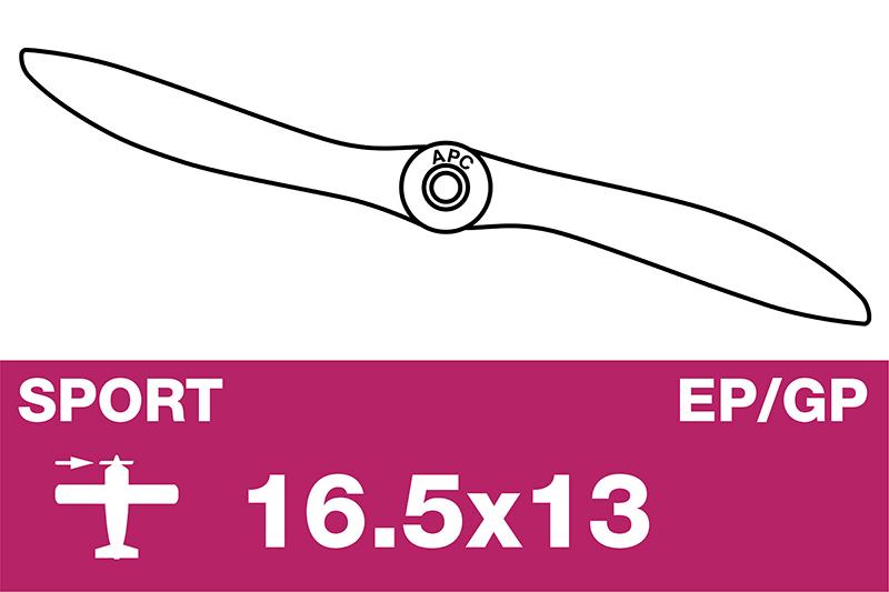 APC - Sport Propeller - EP/GP - 16.5X13