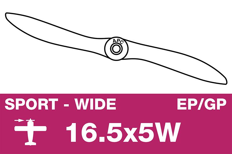 APC - Sport Propeller - EP/GP - 16.5X5W