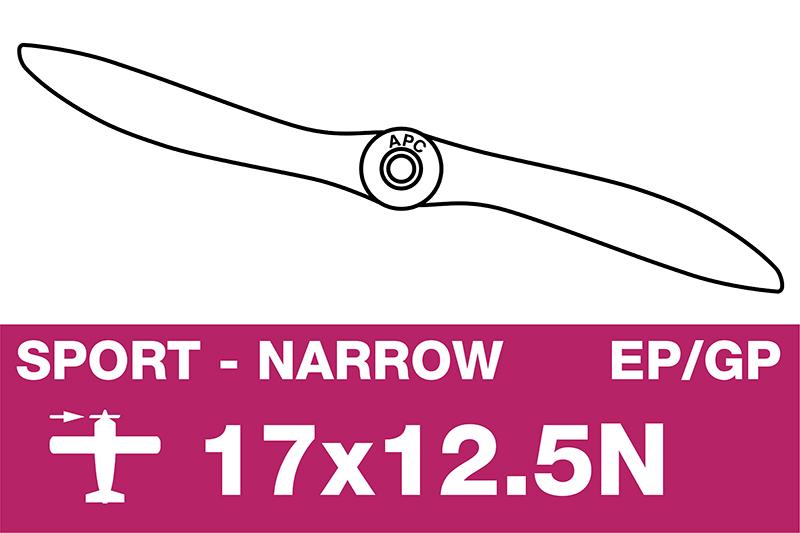 APC - Sport Propeller - Thin - EP/GP - 17X12.5N
