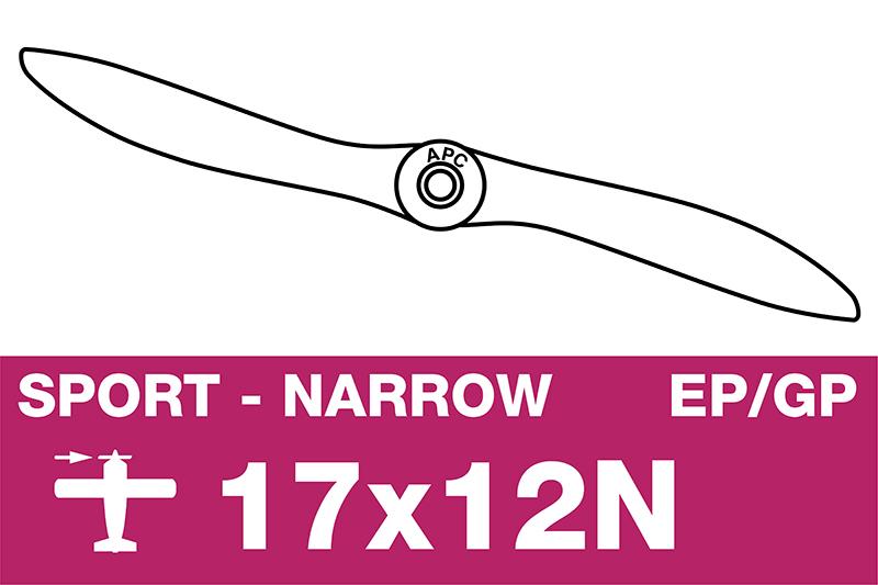 APC - Sport Propeller - Thin - EP/GP - 17X12N
