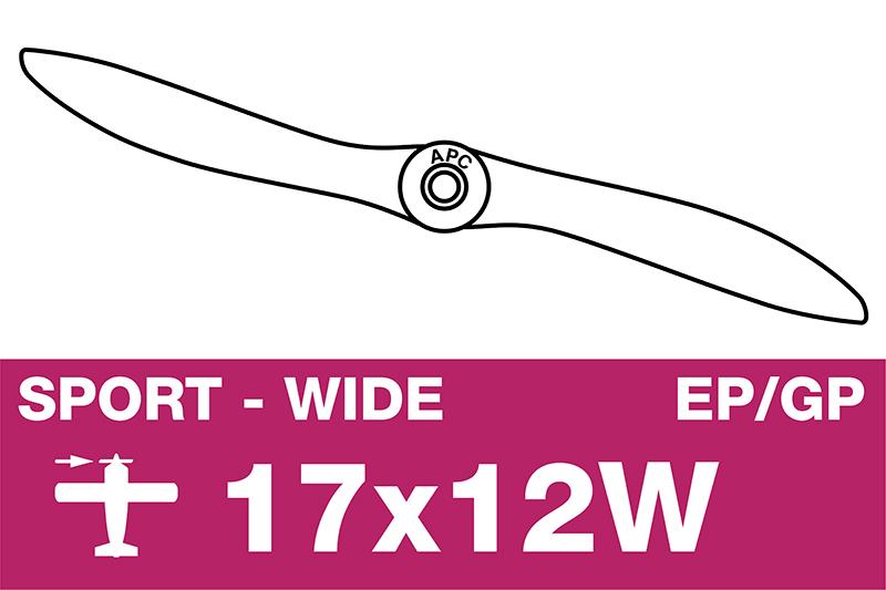 APC - Sport Propeller - EP/GP - 17X12W