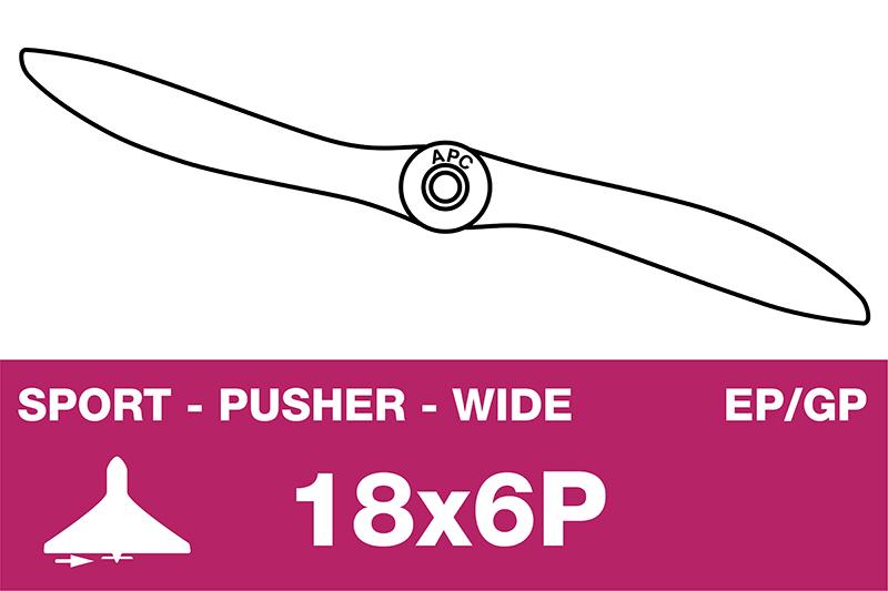 APC - Sport Propeller - Pusher / CCW - EP/GP - 18X6WP